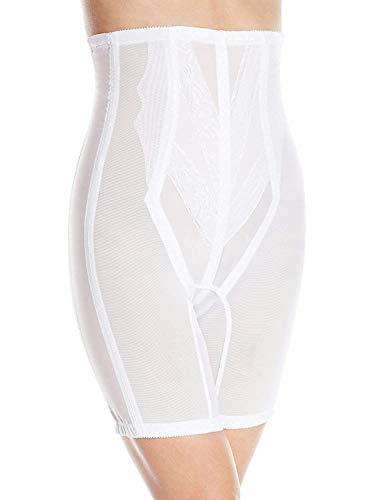 Rago Shapewear - Rago Women's Extra Firm Zippered High Waist Long Leg Shaper, White, Medium (28)