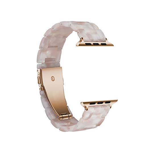 Aobiny for Apple Watch Series 3/4 Watch Band,for Apple Watch 3/4 Luxury Tortoise Shell Resin Watch Bands Strap Bracelet 38mm