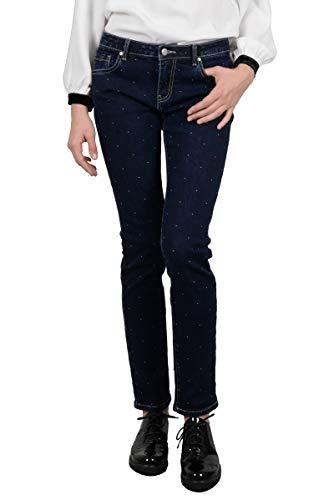 Jeans ajust taille basse petits points - Couleur - BRUT, Taille - M
