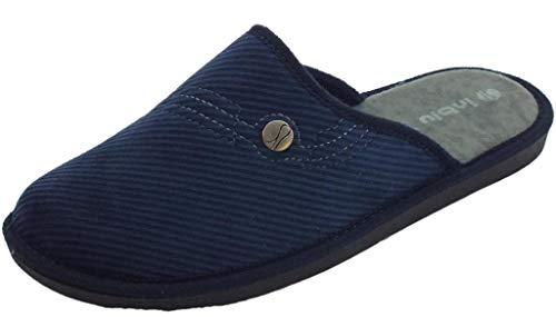 Hombre Tela Eu 41 Inblu Por Estar Azul Casa Para De Turquesa Zapatillas wX6gT