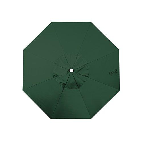 California Umbrella Replacement Canopy Cover in Hunter Green Olefin Umbrella, 7.5' Round