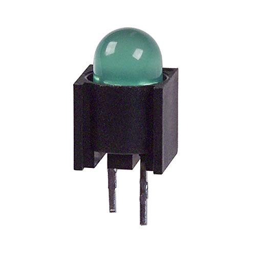 5mm Original Genuine LED 550-0204F LED Circuit Board Indicator Single Green Diffused 2.1V 20mA Round with Domed Top T-1 3//4 Color : Blue Through Hole