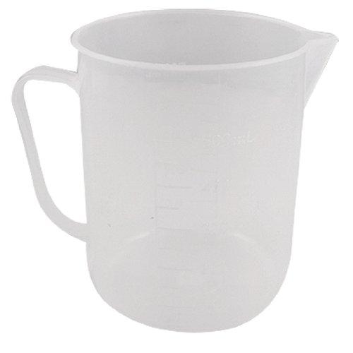 uxcell 500ml Capacity Handle Design Transparent Plastic Lab Measuring Cup Beaker