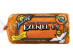 Food for Life - Ezekiel 4:9 Bread, Sprouted Whole Grain Bread, (Vegan, High Fiber & Sprouted Grains), Buy SIX Loaves and SAVE, Each Loaf is 24 Oz (Pack of (Fiber Bread)