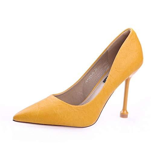 Europeo Trabajo de Zapatos YMFIE Color Zapatos de Fiesta Gato Caramelo la Solo los Zapatos Altos del Tacones señoras Baja de de Boca C Las Tacones Estilete de con xSfF6wx