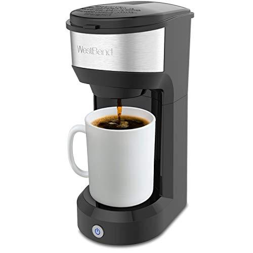 West Bend Single Serve Coffee Maker Black Brews K-Cups fresh ground coffee