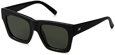 LE SPECS Unisex Fool For You LSP1902136 Polarized Wayfarer Sunglasses,Black,52 mm