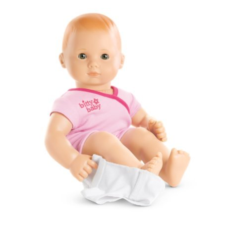 American Girl - Bitty Baby Doll Light Skin Red Hair Hazel Eyes BB6 with Pink - Doll Skin Light