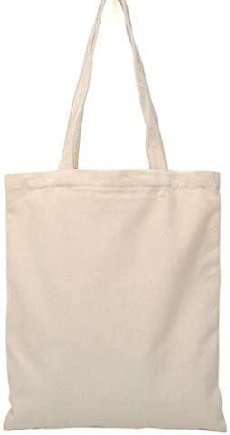 Scrox - Bolsa de playa beige Bolsa de tela de cáñamo y algodón beige,para pintar a mano,para creaciones propias 34*39cm