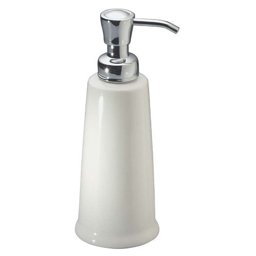 Interdesign York Ceramic Liquid Soap Dispenser Pump For Kitchen Or Bathroom Countertops White