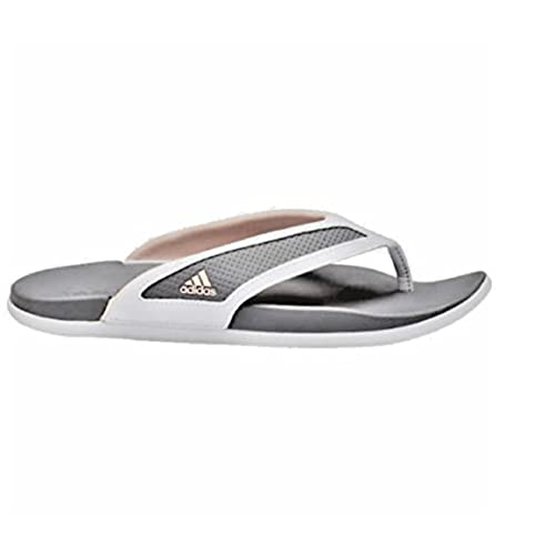 c0b7adcc6 80%OFF Adidas Womens Supercloud-Footbed Grey Flip Flop Sandals ...
