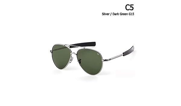 ZHOUYF Gafas de Sol Ejército Militar MacArthur Aviation ...