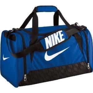 Bolso de lona Nike Brasilia 6unisex, color Royal Blue/Black/White, tamaño small