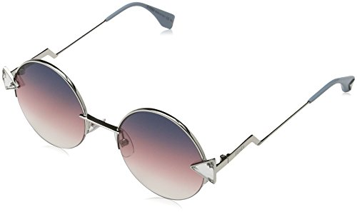 Fendi Women's Round Sunglasses, Violet Gold/Grey Fuschia, One - Sunglasses Fendi Round