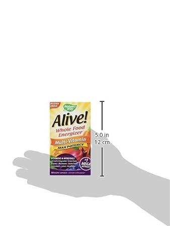 Amazon.com: Energizante multivitamínico Alive de 90 cápsulas ...