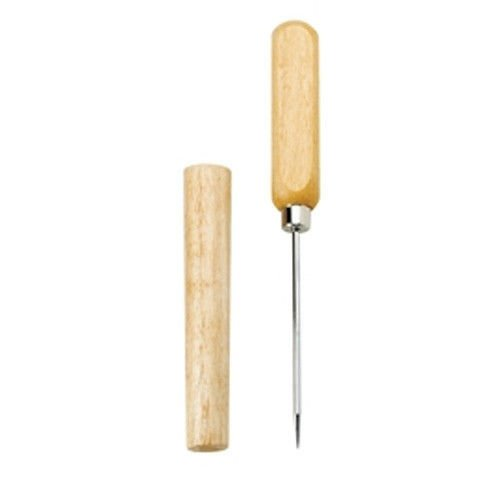 Ice Pick Wood Handle - Drink Hole Punch (Medium Tray Square Leather)