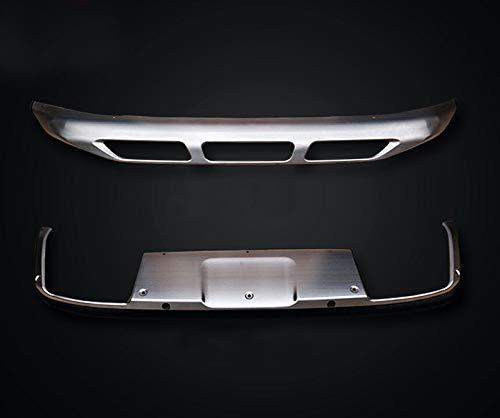 Acero inoxidable delantera + trasera Bumper Protector de pantalla para 3008 2017 2018: Amazon.es: Coche y moto