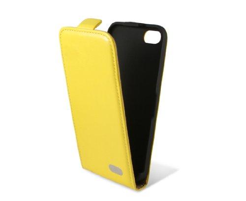 KSIX B0913FU90A Flip Case für Apple iPhone 5C gelb