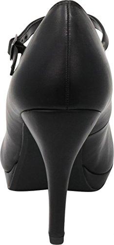 Nero Tallone Pu Mary Donne Cinghia Dell'alto Delle Pompa Jane Selezionare Imbottita Vestito Fibbia Cambridge Vienna qPqg6nF7