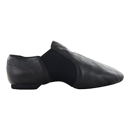 Erwachsene Leder Jazz Dance Schuhe Schwarz