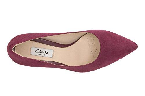 Clarks Mujer Modern de elegante Dinah keer ante halbschuhe en color morado