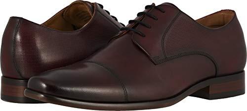 Burgundy Shoes Oxfords (Florsheim Mens Postino Cap Toe Burgundy Smooth Oxford - 8.5 3E)