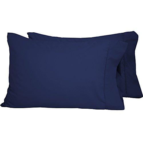 Bare Home Premium 1800 Ultra-Soft Microfiber Pillowcase Set - Double Brushed - Hypoallergenic - Wrinkle Resistant (King Pillowcase Set of 2, Dark Blue)