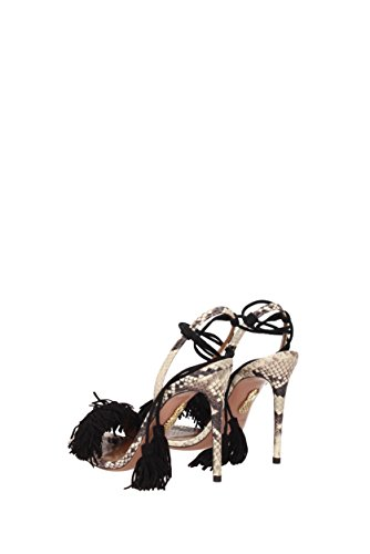 Skin Suede Number and High Heel Model WITHIGS0 in Sandals 9N4 Python SSU AQUAZZURA Black 0qCXgU