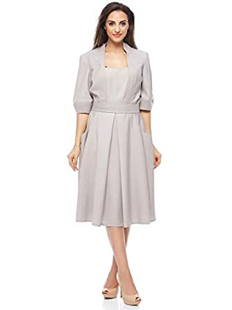 Valeria Sanoufi Casual Pleated Dress For Women