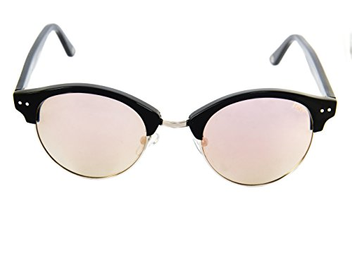 Black de Espejo Lois Polarizada BL Pasta Gafas Azul rosa Moda Azul Flat Blue Sol Unisex BxqgOwp