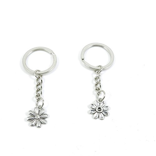 1 Pieces Keyring Keychain Keytag Key Ring Chain Tag Door Car Wholesale Jewelry Making Charms B4XO4 Daisy Flower
