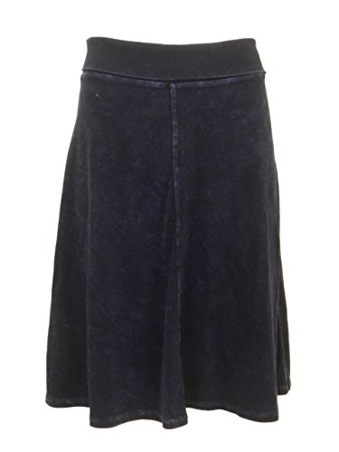Hardtail Roll Down Short Skirt (S, Dark Denim)