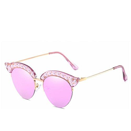 Las Gafas de Cuerpo Medio Gafas la Moda la Sol de de de Purple Sol Gafas Blue de de y Americana Sol Personalidad Europea Sakuldes de señoras Color wUYqI7xT