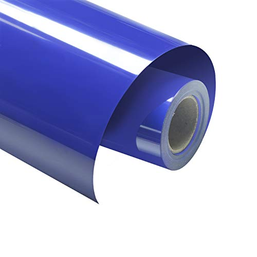 "VINYL FROG HTV 10"" x12FT PU Royal Blue Heat Transfer Vinyl Roll for T Shirts,Garments Bags and Other Fabrics"