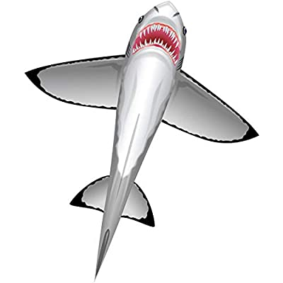 WindnSun SeaLife Great White Shark Nylon Kite-60 Inches Tall by BRAIN STORM KITES: Toys & Games