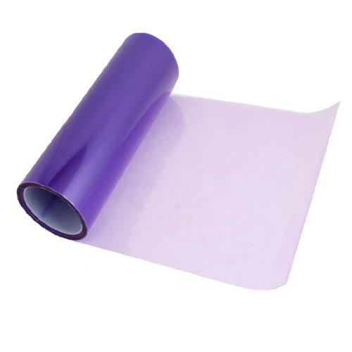 "Purple Overlays Vinly Film Sticker Roller 381"" x 11.8"" for Head Light"