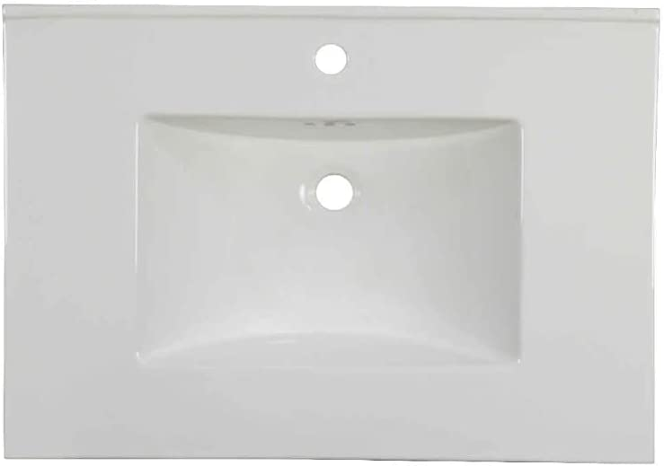 "20.2""W CUPC Certified Rectangular Ceramic Vanity Top in White - HZR-1067"