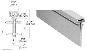 CRL Satin Anodized 350 Series Heavy-Duty Concealed Leaf Continuous Hinge - 35083A (Anodized Series Satin Crl)