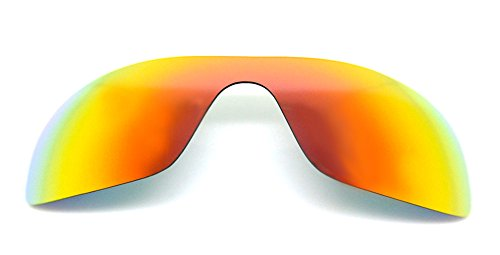 Polarized Replacement Lenses for Oakley Batwolf Sunglasses (Fire Red) - Review Lenses Oakley