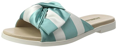 Buffalo Shoes 16s34-1 Satin, Sandalias Planas Mujer Multicolor (Turquoise 09)