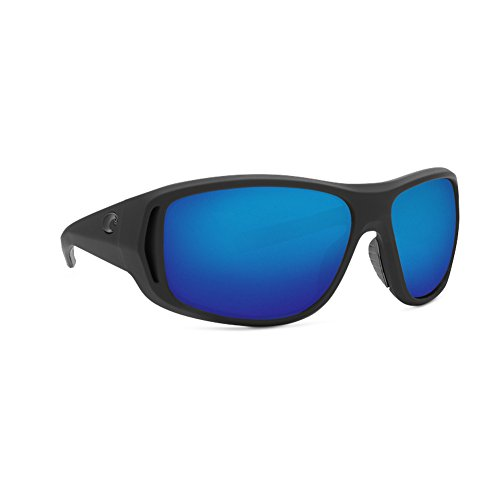 Costa Del Mar Costa Del Mar MTK187OBMGLP Montauk Blue Mirror 580G Matte Black Ultra Frame Montauk, Matte Black Ultra Frame, Blue Mirror -