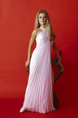 Sharon Tate Stunning Glamour Portrait red backdrop 24x36 Poster