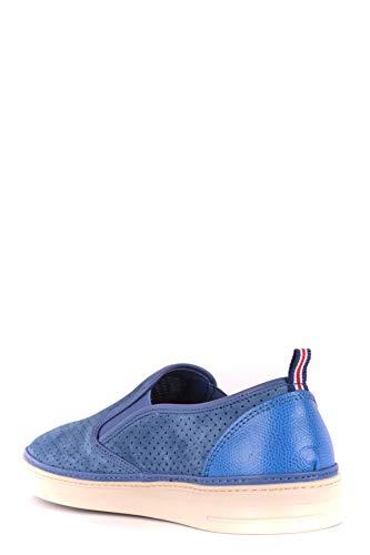 Slip Blu Uomo Sneakers On Mcbi35275 Brimarts Camoscio 60vd6