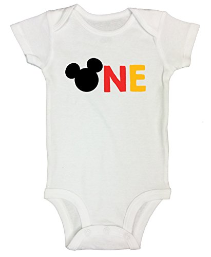 "Mickey Mouse Onesie Bodysuit ""One"