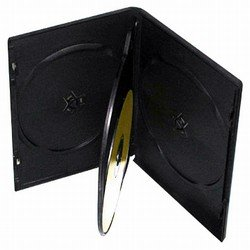 (50 Standard Black Quad 4 Disc DVD Cases)
