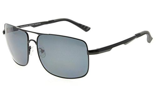 Eyekepper Lunettes de soleil Polycarbonateverres Polarisees lunettes soleil pour hommes noir/bleu verre NaYdGEht