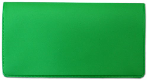 Lime Green Vinyl Checkbook Cover