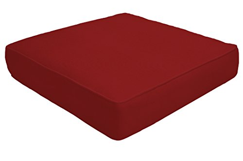 Custom x Easy Way Products 19235U-F5403 Custom Double Piped Ottoman Cushion, 24