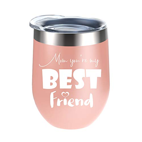 Mom You're My Best Friend Tumblers - Perfect Gifts for Mom, Mom's Birthday Gifts, Christmas Gifts for Mom, Thanksgiving Gifts for Mom, Mother's Day Gifts - 12 Oz
