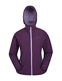 Mountain Warehouse Reykjavik Womens Softshell - Ladies Spring Jacket Dark Purple 8